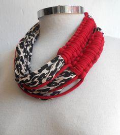 Collar trenzas trapillocollar algodon trenzado por corteygrif, $48.20