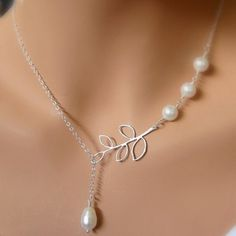 Cute Solid Color Faux Pearl Embellished Necklace For Women