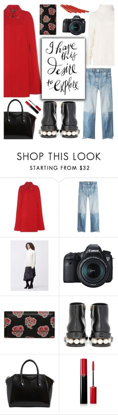 Versailles Travel Outfit by glamorous09 on Polyvore featuring moda, Diane Von Furstenberg, Gucci, Vetements, Nicholas Kirkwood, Givenchy, Alexander McQueen, Giorgio Armani, Eos and france