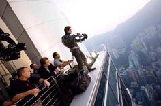 Christian Bale on set of the Dark Knight
