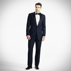 Midnight Blue Peak Lapel Tux