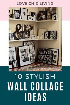 Here are 10 of the best art wall collage ideas for your home. Design a wall collage that displays your photos while suiting your family home interior. Collage Ideas, Wall Collage, Modern Wall Decor, Cool Walls, Wall Ideas, Home Decor Inspiration, Cosy, Cool Art, Home And Family