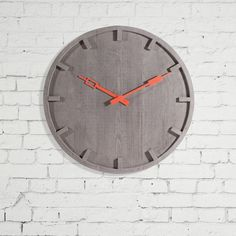 Concrete Wall Clock by Seletti at Smithers Cool Wall Clocks Store Wall Clocks Uk, Kitchen Wall Clocks, Mantel Clocks, Concrete Furniture, Concrete Wall, Vintage Walls, Vintage Decor, Vintage Clocks, Traditional Clocks