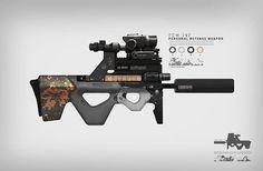 #concept art #weapon  #game art #paintings #illustration artists  #art ##drawing #artwork #photoshop #artist  #digital painting #digital art #follow #riffle #defense weapon #assault #firearms #soldier #future #pdw #personaldefenseweapon