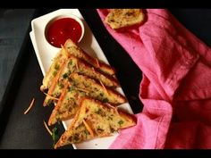 rava toast recipe, a tasty breakfast or snack made with sooji, onion, curd, and other indian spices. An easy to make open toast recipe.