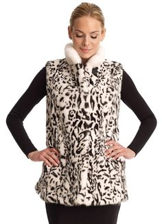 Liven your outfit with a fun #print - #Gorski fur vest