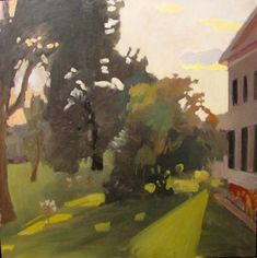Fairfield Porter, Sunset and Lilies, 1960, oil on canvas. Gift of Mrs. Fairfield Porter.