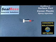 """This corner epoxy surface plastic port has a perforated base for adhesion and a 1/4"""" stem/nozzle. To learn more click below. #accessories #epoxyresin Concrete Repair Products, Thing 1, Epoxy, Adhesive, Surface, Plastic, Learning, Corner, Base"""