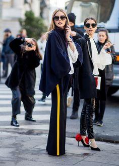 Paris Fashion Week Street Style Fall 2017 Olivia Palermo #streetstyle #sportychic #pfw Trouve à stylecaster.com
