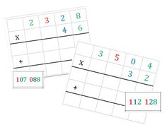 MAJ atelier Montessori multiplication - Loustics