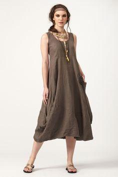 PLS fashion : Φόρεμα λινό μακρύ (890) Linen Dresses, Fashion, Moda, Fashion Styles, Fashion Illustrations