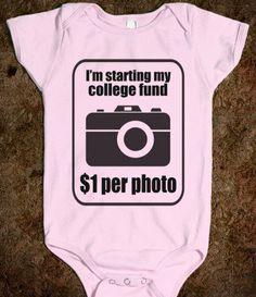 COLLEGE FUND $1 PER PHOTO - BABY ONSIE - underlinedesigns