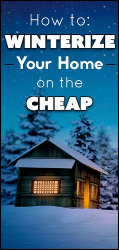 Find out how to winterize your home while on a #budget!