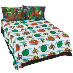 Ninja Turtle Twin Bed Set