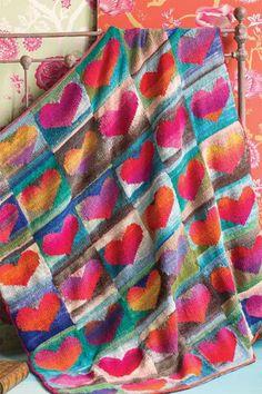 Bildergebnis für squares knit leaf blankets