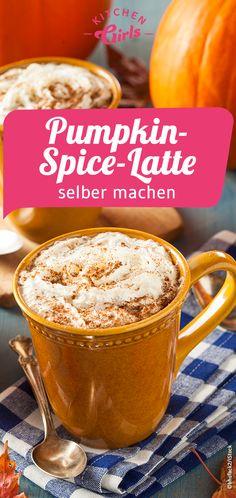 An autumnal delight: make the pumpkin spice latte yourself! - An autumnal delight: make the pumpkin spice latte yourself! When the days get colder, you like to s - Pumpkin Spiced Latte Recipe, Pumpkin Spice Cupcakes, Pumpkin Dessert, Pumpkin Spice Latte, Pumpkin Recipes, Easy Smoothie Recipes, Healthy Dessert Recipes, Delicious Desserts, Snack Recipes
