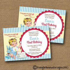 Babys First Birthday Invitation DIY PRINTABLE Vintage Baby Boy 1 Christian Scripture Bible Verse Card