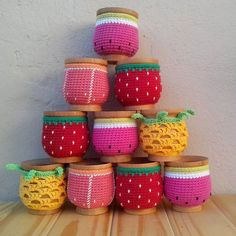 Mate Con Funda A Crochet - $ 90,00 en Mercado Libre Crochet Decoration, Crochet Home Decor, Crochet Art, Crochet Gifts, Crochet Toys, Crochet Designs, Crochet Patterns, Crochet Jar Covers, Crochet Coffee Cozy