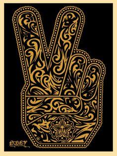 obey shepard farey mano federica ghizzoni galleria serigrafie rossella farinotti