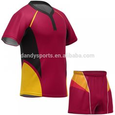 Rugby Wear Team Set Custom Rugby Jersey Sublimated Rugby Clothing No Minimum #rugby_clothing, #design