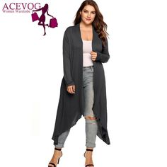 online shopping for Women Cardigan Jacket Autumn Open Front Large Long Large Sweater from top store. See new offer for Women Cardigan Jacket Autumn Open Front Large Long Large Sweater Maxi Cardigan, Cardigan Lang, Oversized Cardigan, Long Cardigan, Sweater Jacket, Sleeveless Cardigan, Oversized Sweaters, Plus Size Cardigans, Cardigans For Women