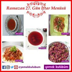 Ramazan 27.Gün İftar Menüsü Önerisi  #ramazan #ramazan27.gün #hoşaf #komposto #kabak #padişah #makarna #kıymalı #şalgamlı #iftarmenüsü #iftar #sahur #ramazanmenüsü #iftariyelik #iftarlık #yemektarifi #menüönerisi #iftarönerisi #sahurönerisi #iftaryemeği  ramazan 27. gün iftar menüsü, ramazan ayına özel ramazan iftar menüsü menüleri önerileri, iftar ramazan yemekleri tatlıları salataları içecekleri börekleri