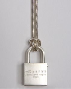 Sid Vicious chic - a new take on the classic padlock and chain.