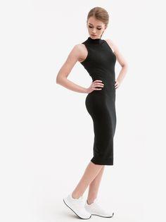 Ladies Stretch Jersey Turtleneck Dress Black TB1195 - Urban Classics - Urban City - skateshop, streetwear, sklep Hip Hop, odzież i buty z USA, Europy i Polski