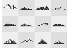 mountain tree vector