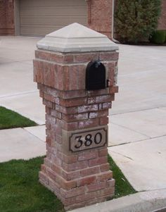 brick mailboxes Brick Mailbox, New Mailbox, Mailbox Ideas, Mailbox Landscaping, Garden Landscaping, Pictures Of Bricks, Mailbox Designs, Outdoor Projects, Outdoor Decor