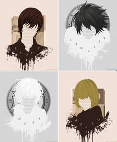 Death Note- Light, L, Near, and Mello