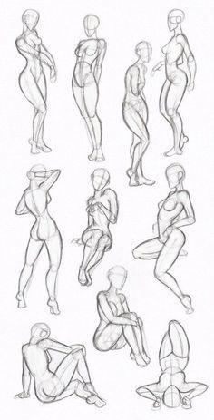Female Body Drawing - Female Human Body Drawing to drawing poses Gesture Drawing, Body Drawing, Anatomy Drawing, Drawing Poses, Life Drawing, Drawing Tips, Female Drawing, Body Anatomy, Woman Drawing