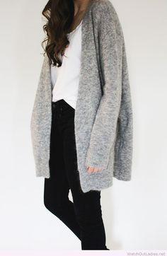 Amazing cozy grey cardigan