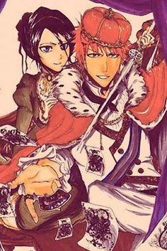 Her King,His Queen Bleach Ichiruki Ichigo Y Rukia, Rukia Bleach, Bleach Anime, Bleach Couples, Fanart, Look At The Stars, Anime Ships, Manga Comics, Drawing People