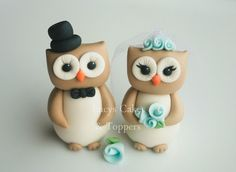 OWL BIRD BRIDE AND GROOM WEDDING CAKE TOPPER ENGAGEMENT ANNIVERSARY | eBay