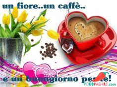Immagini Belle Di Buongiorno - Pocopagare.com Good Day, Good Morning, Pause Café, Coffee Heart, Girl Humor, Happy Valentines Day, Tea Cups, Pudding, Tableware