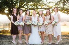 Romantic, Rustic, Country Wedding - love the brown colours