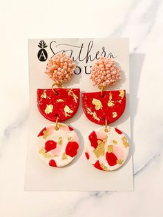 Valentine's Clay Earrings | asoutherntouchsc
