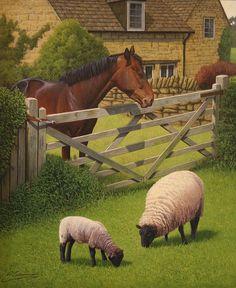 Philip Gerrard (b.1958); 'The Grass is Greener',