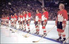 1972 Team Canada Summit Series Hockey Games, Ice Hockey, Hockey Boards, Bobby Orr, I Am Canadian, Summit Series, Sports Uniforms, O Canada, Team Pictures