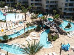 Waterscape Lazy River Resort Fort Walton Beach Florida on Okaloosa Island Condo Rentals and Vacation Home Rentals