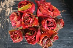 How to make roses out of leaves.