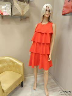 Fodros ruha (piros) - Envy Fashion