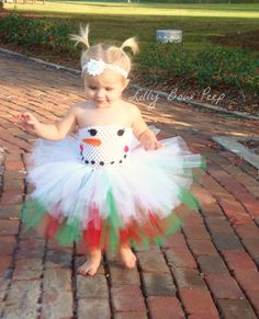 Christmas Snowman Tutu Dress & Polka Dot Headband-Baby Girl Clothes-Outfit-Preemie-Newborn-Infant-Child-Holiday Clothing-Photography Prop on Etsy, $24.95