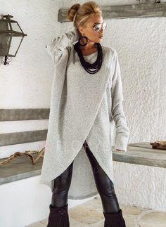 Lana y lana blend largo Manga larga