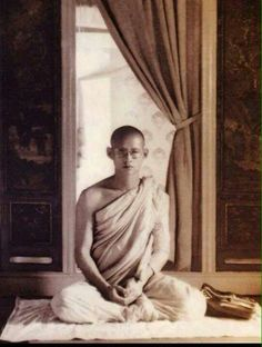 His majesty during his bhuddist monkhood.