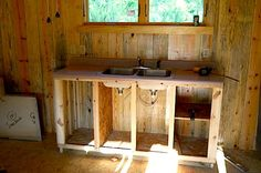 tiny cabin kitchen | ... kitchen in small cabin How to Build a Mortgage free Small House for $