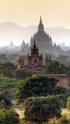 Bagan, Myanmar.  I sailed up the Irawaddy River ©️️2002 to Bagan.  One of the most magical places in my travels.