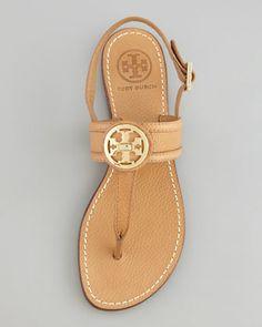 Tory Burch Selma Logo Thong Sandal - Neiman Marcus