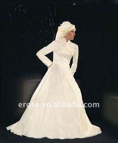 Красное свадебное платье мусульманское